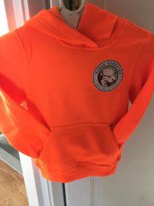 Orange Hoodie med brystlogo